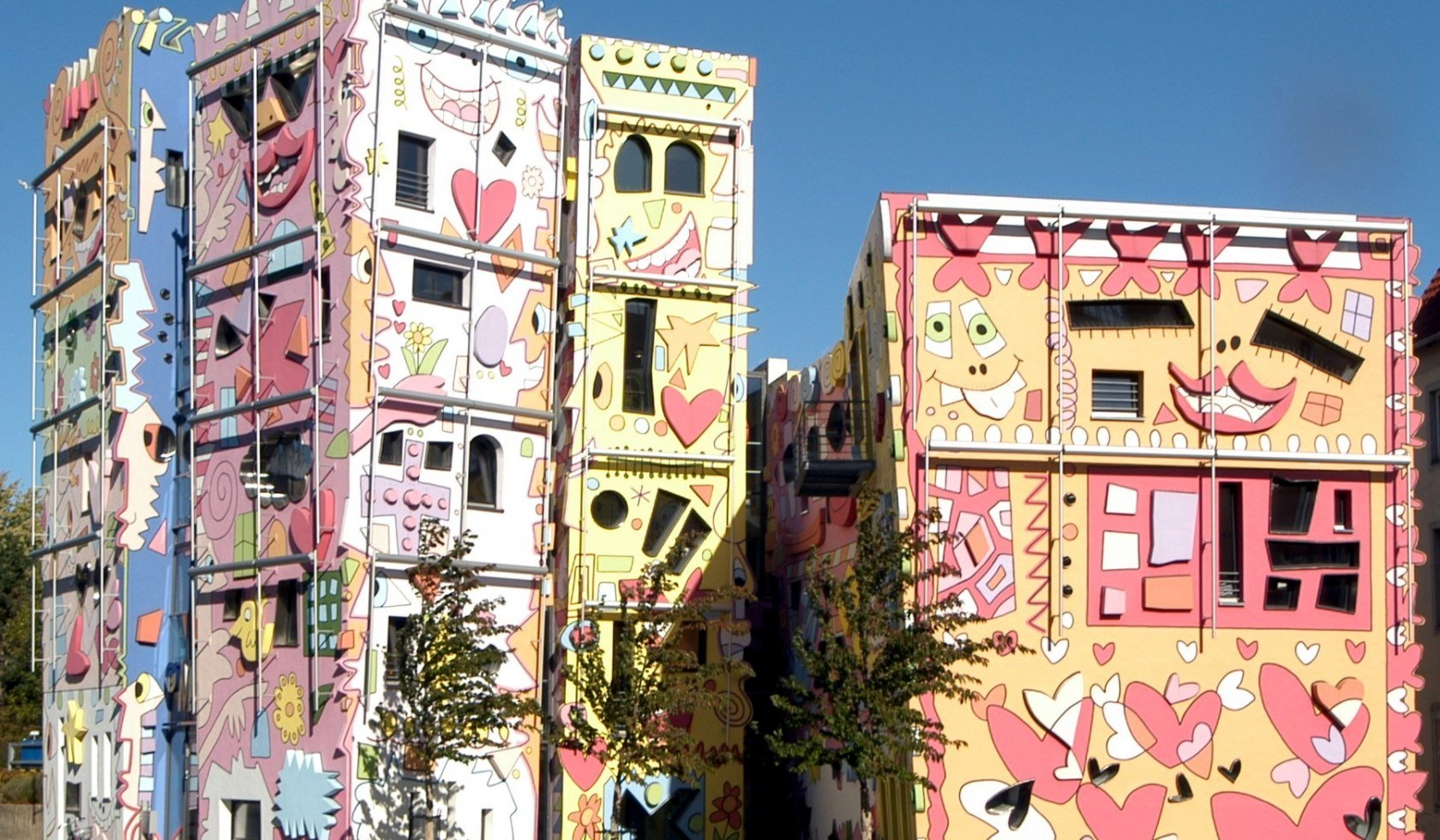 The colorful and playful Happy Rizzi houses in Braunschweig