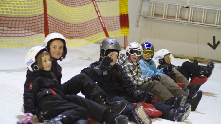 Children's group in the Snow Dome Bispingen