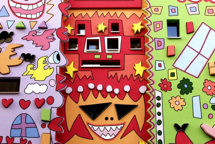 Close-up of a part of Happy Rizzi House
