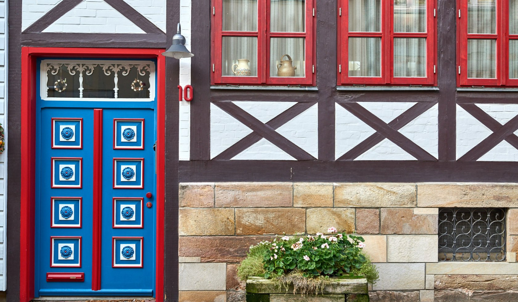 Half-timbered house in the historic old town Wolfenbüttel